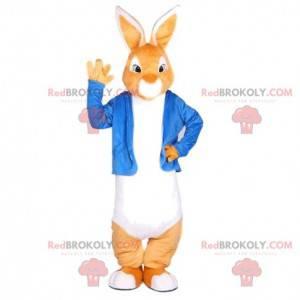 Kaninchenmaskottchen gekleidet in einem eleganten Outfit