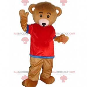 Maskot oblečeného medvěda, barevný kostým medvídka -