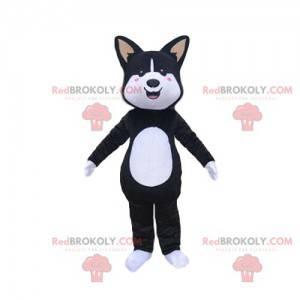 Maskot černobílý pes, pejsek kostým - Redbrokoly.com