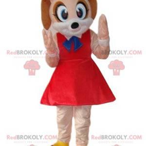 Maskot hnědé myši, kostým malé ženské myši - Redbrokoly.com