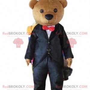 Kroj maskot medvídek, elegantní medvěd, podnikatel -