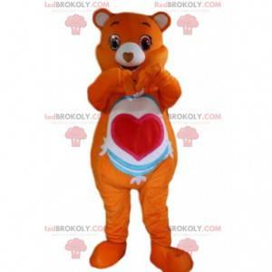 Maskot Orange Care Bear, kostým oranžového medvěda -