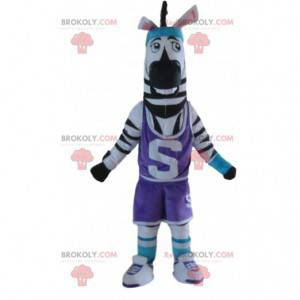 Sebramaskott i sportsklær, sportsdyrdrakt - Redbrokoly.com