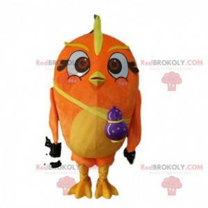 Stor oransje fuglemaskot, fargerik fugledrakt - Redbrokoly.com