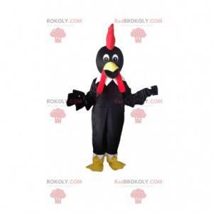 Maskot černého ptáka, kostým havrana, kostým slepice -