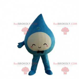 Giant water drop mascot, blue drop costume - Redbrokoly.com