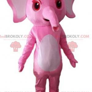 Rosa Elefantenmaskottchen, rosa Elefantenkostüm - Redbrokoly.com