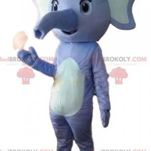 Maskottchen des blauen und weißen Elefanten, Kostüm des blauen