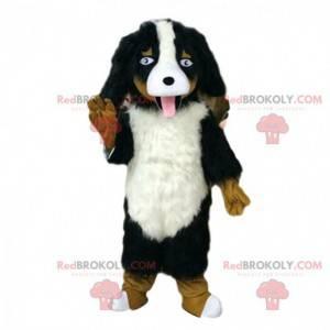 Hairy dog mascot, realistic dog costume, purebred dog -