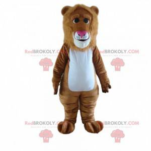 Brun løve maskot, løve kostyme, feline forkledning -