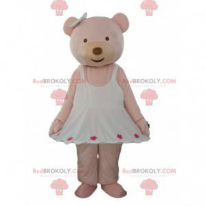 Pink teddy bear mascot, pink teddy bear costume - Redbrokoly.com