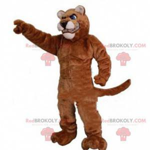 Muscular tiger mascot, sports feline costume - Redbrokoly.com