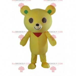 Gul bamse maskot, plysj gul bamse kostyme - Redbrokoly.com