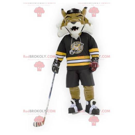 Roaring brown and white tiger mascot - Redbrokoly.com