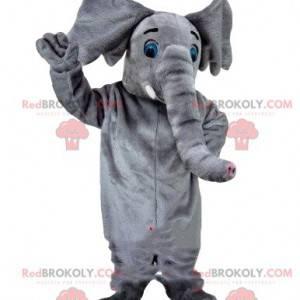 Graues Elefantenmaskottchen, Zirkuskostüm, Zirkustier -