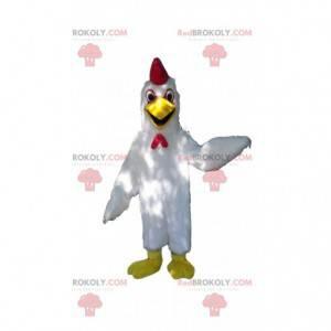 Hvit hønsmaskot, hane kostyme, barnyard - Redbrokoly.com