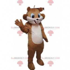 Maskot hnědá veverka, lesní kostým, obří veverka -