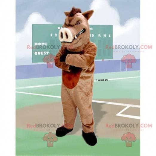 Wild pig boar mascot - Redbrokoly.com