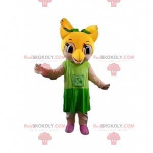 Żółta maskotka sowa, kostium sowy, nocny ptak - Redbrokoly.com