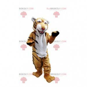 Velmi realistický maskot tygra, kočičí kostým, obří tygr -