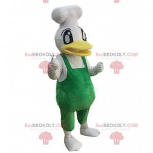 Kuchař kachna maskot, kuchař kostým, obří kachna -