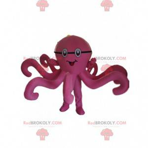 Pink octopus mascot, octopus costume, pink disguise -