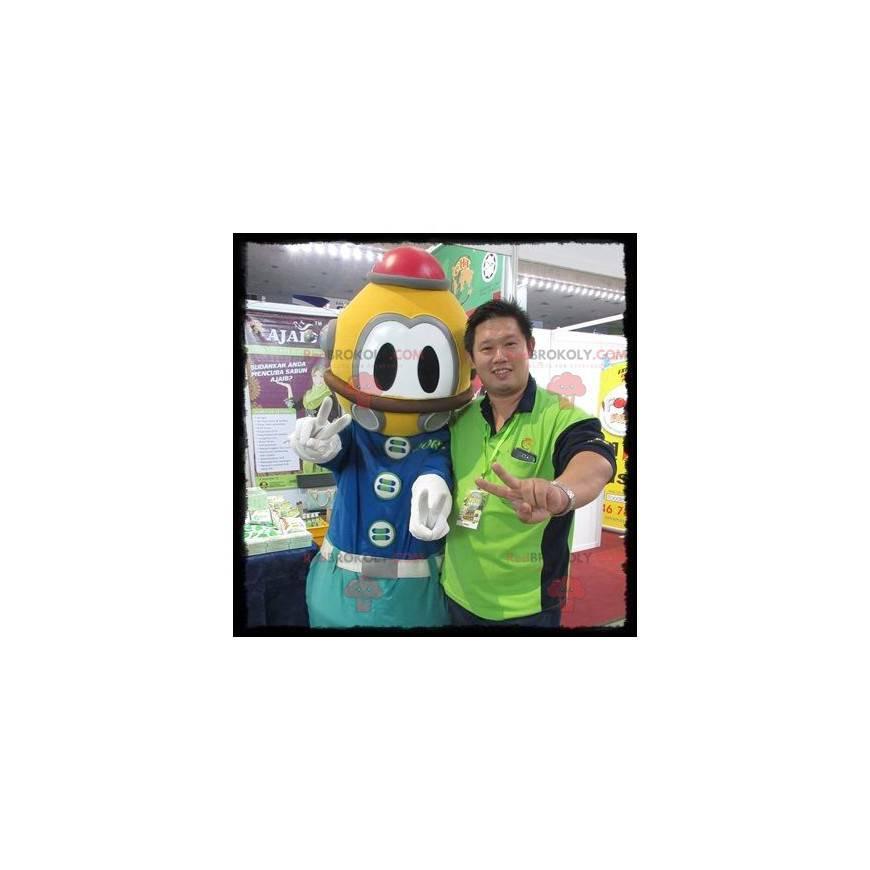 Yellow and blue diver mascot - Redbrokoly.com