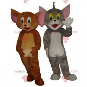 Tom og Jerry maskotter, de berømte tegneseriedyr -