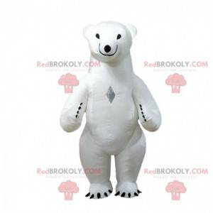 Nafukovací maskot ledního medvěda, kostým ledního medvěda -