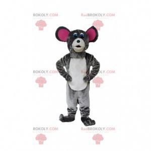 Maskot šedá myš, kostým hlodavce, maskot krysy - Redbrokoly.com