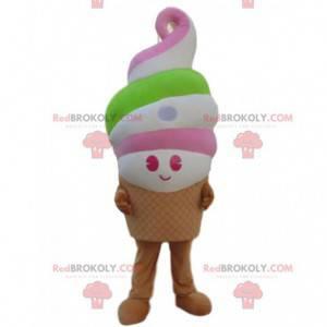 Obří zmrzlina maskot, zmrzlinový kornout, ledovec kostým -