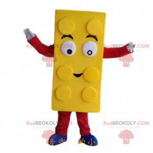 Maskot žluté lego, kostým stavebnice - Redbrokoly.com