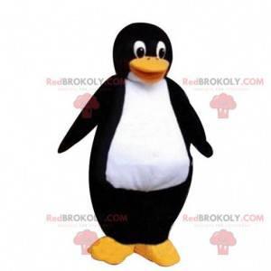 Stor svart-hvitt pingvin maskot, pingvin kostyme -