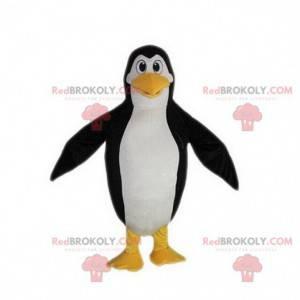 Schwarzes weißes und gelbes Pinguin-Maskottchen, Pinguinkostüm