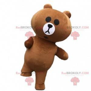 Maskot nafukovacího medvěda, kostým nafukovacího medvídka -