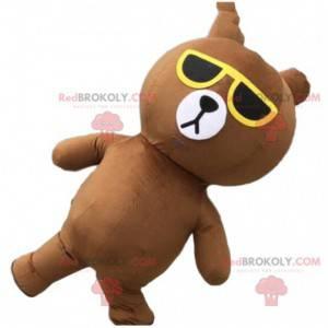 Nafukovací medvídek maskot se slunečními brýlemi -