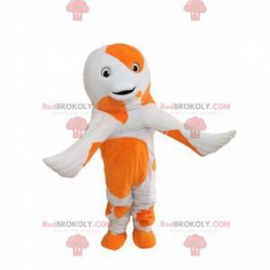 Koi carp mascot, colorful fish costume, giant dolphin -