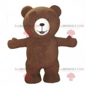 Maskot hnědý medvídek, kostým medvěda, nafukovací medvěd -