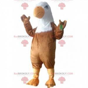 Zweifarbiges Adlermaskottchen, Geierkostüm, Raubvogel -