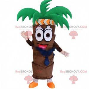 Gigantisk kokosnøttpalme maskot, palmetre kostyme, eksotisk tre