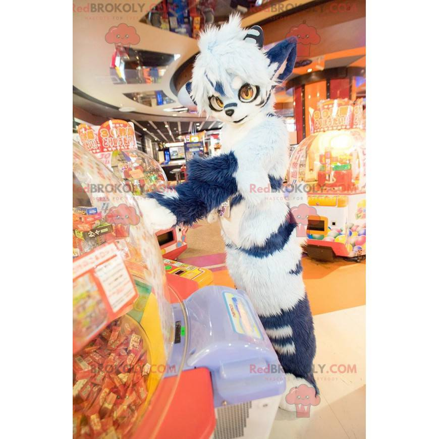 All hairy blue cat mascot - Redbrokoly.com