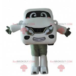 Maskot bílé auto, kostým vozidla, velké auto - Redbrokoly.com