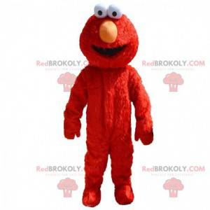 Mascote Elmo, famoso personagem vermelho do Muppet Show -