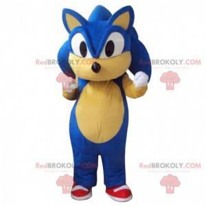 Mascot Sonic, der berühmte blaue Videospiel-Igel -