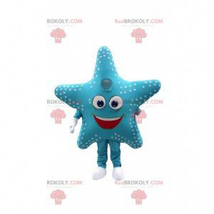 Zeesterren mascotte, kostuum reusachtige blauwe ster -
