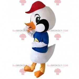 White bird mascot, crane costume, large bird - Redbrokoly.com