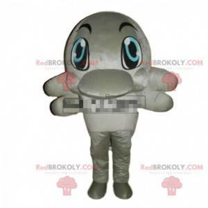 Mascot gray dolphin, sea costume, giant orca - Redbrokoly.com