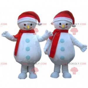 2 maskoti sněhuláka, zimní kostým - Redbrokoly.com