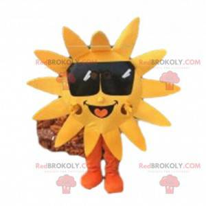 Sun mascot with dark glasses, sun costume - Redbrokoly.com