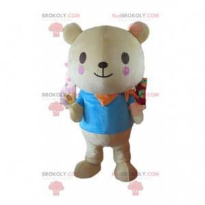 Teddy bear mascot, teddy bear costume, giant teddy bear -